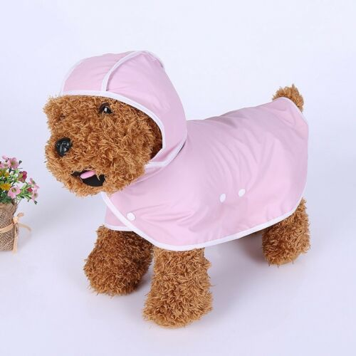 Dog Raincoat Puppy Waterproof Hooded Poncho Pet Cat Outdoor Clothes Rainwear New