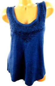 Sonoma-blue-embroidered-beads-scoop-neck-spandex-stretch-sleeveless-plus-top-1X