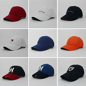 Image is loading Tommy-Hilfiger-Cotton-Baseball-Cap-Mens-Womens-Unisex- 84c334ce79
