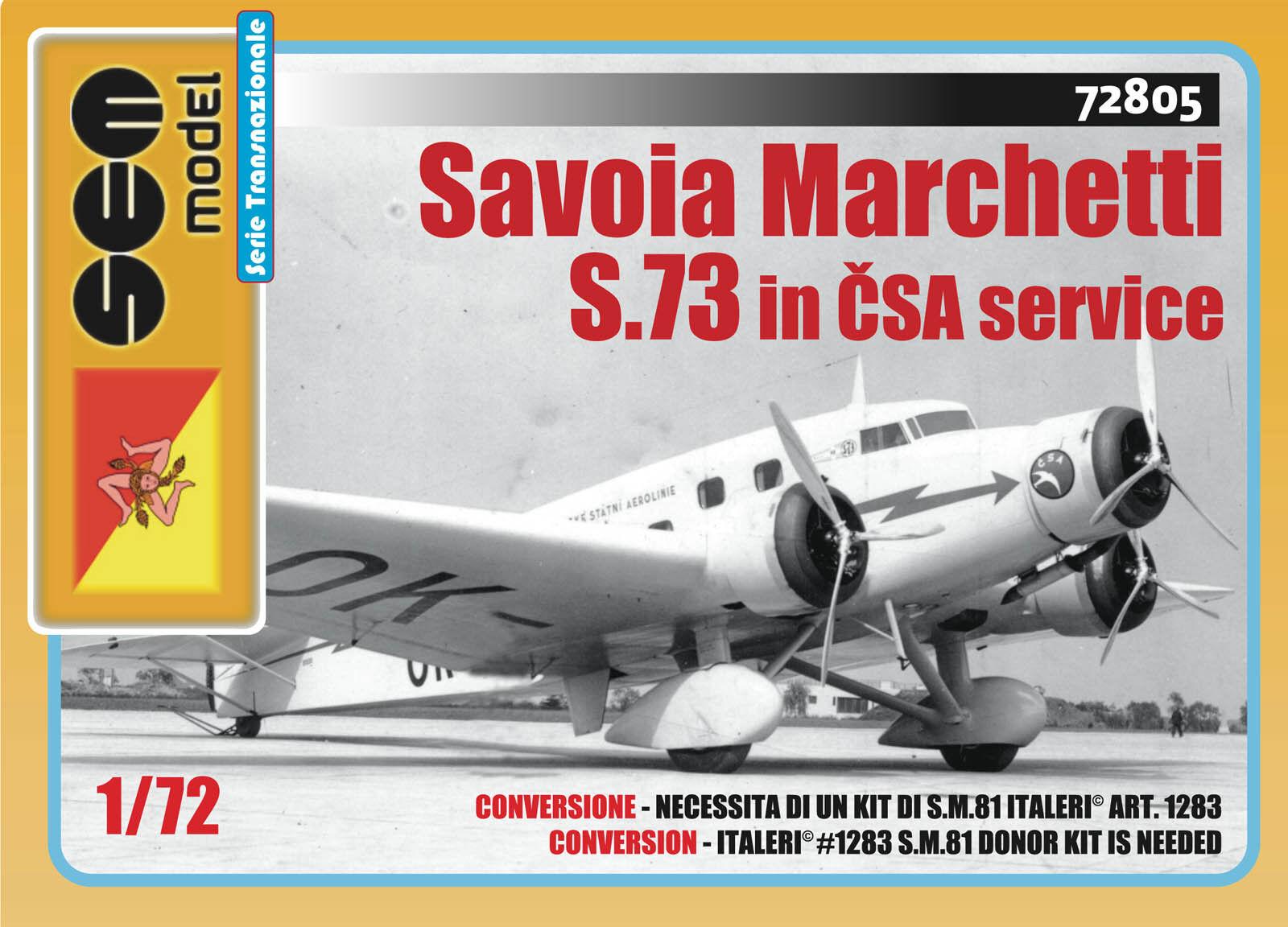 Savoia Marchetti S.73 in ČSA service - 1 72 - Sem Model 72805
