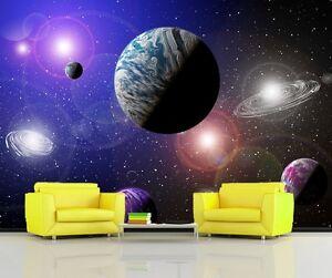Alien-Planetes-Systeme-Solaire-Espace-Sci-Fi-Photo-Papier-Peint-Mure-Mural