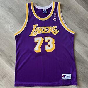 Dennis Rodman 44 Large Champion Los Angeles Lakers Jersey   eBay