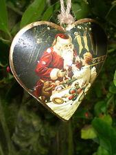 Precioso danés Colgante Vintage Navidad Corazón Decoración, Diseño A3