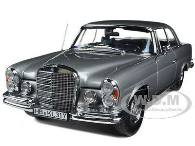 1969 MERCEDES 280 SE COUPE GREY 1/18 DIECAST CAR MODEL BY NOREV 183529