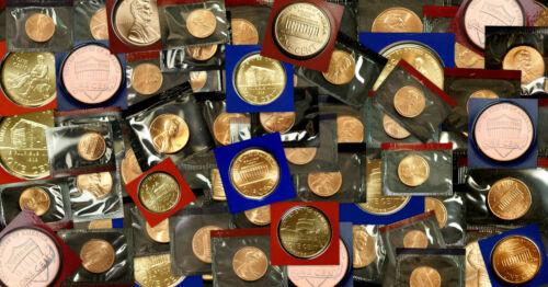 1968-2015 P D Lincoln Mint Set in OGP Lot of 109 w//Choice 1982 P D  1983 P D