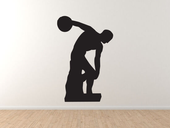 Famous Statue  1 - Discobolus of Myron Greek Discus Thrower - Vinyl Wand Decal