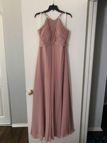 Azazie Ginger Dress Dusty Rose 8/10