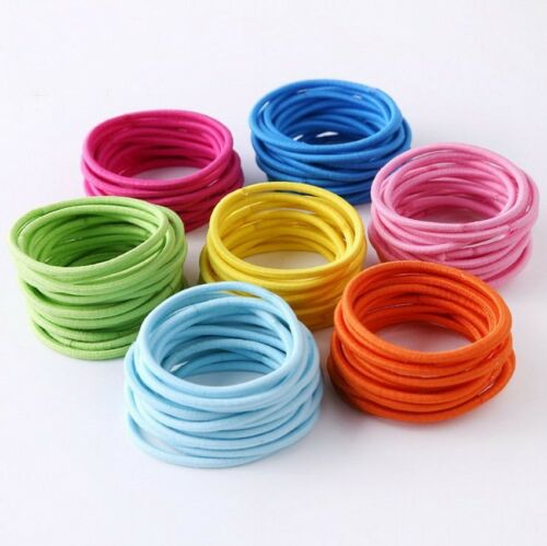 50//100pcs Women/'s Elastic Hair Ties Band Ropes Ring Ponytail Holder Accessories