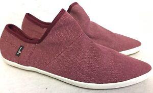 24f37abe165 SANUK Womens Katlash Slip On Sandal Shoes Size 7 Burgundy Sidewalk ...