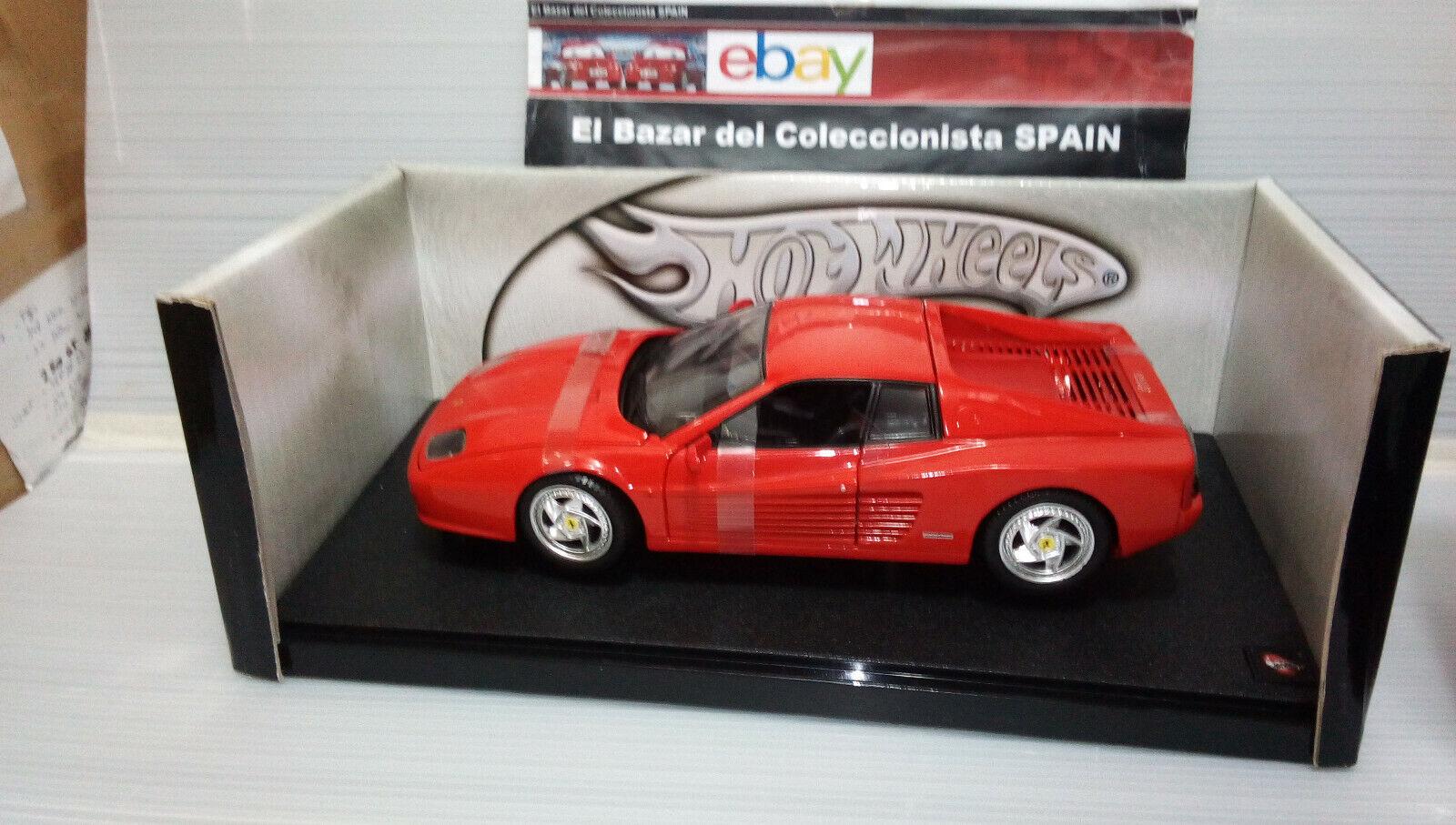 alta calidad general 1 18 Ferrari 512 512 512 TeEstrellaossa -   Hot Wheels - 3L 050  entrega gratis