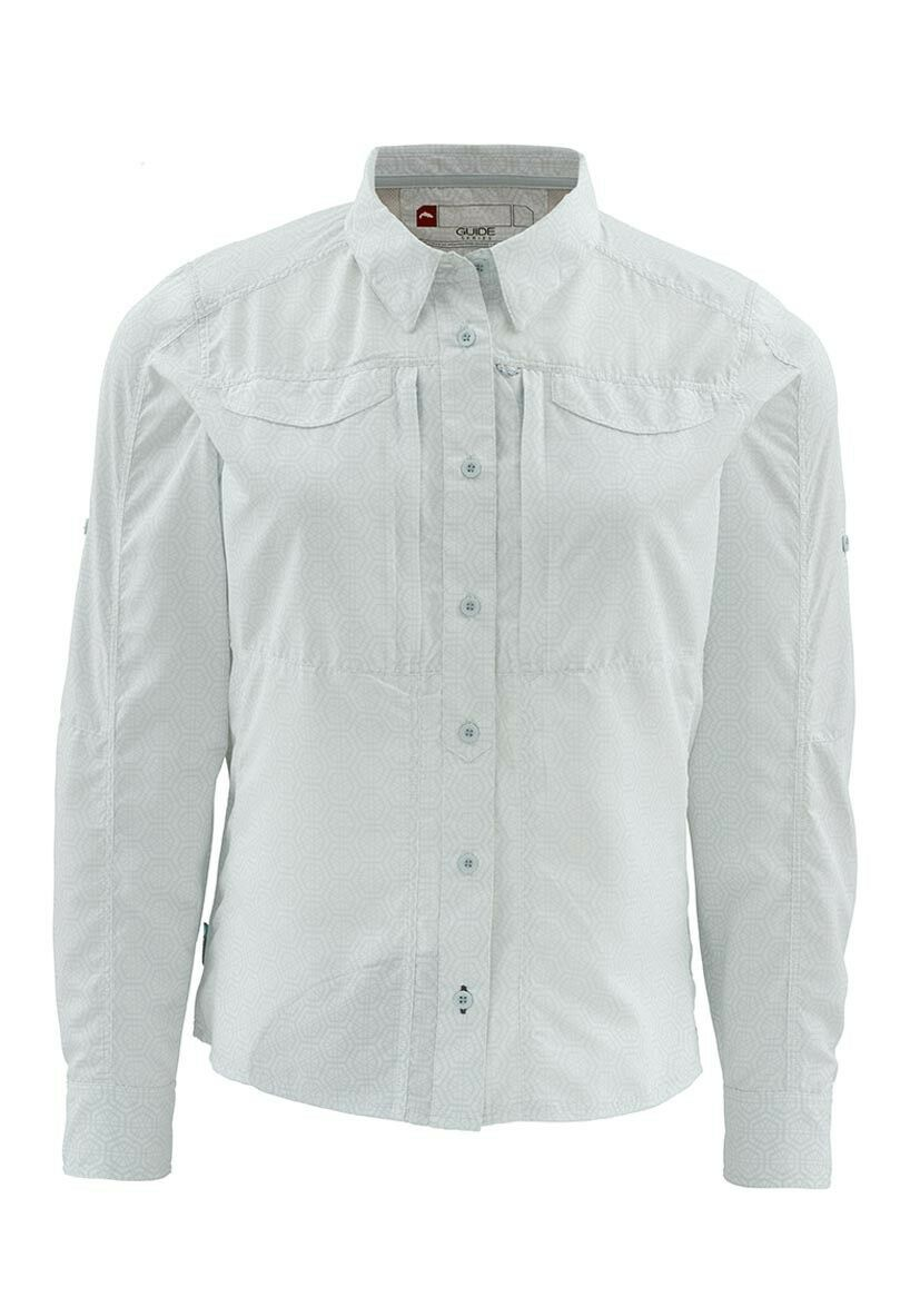 Simms Women's ATTRACTOR Long Sleeve Shirt  Geo Tile Frost NEW  Closeout XL