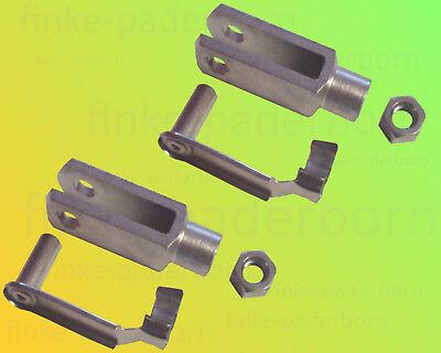 Sicherungsbolzen // ES-Bolzen Kontermutter M10 2 x Gabelkopf 10x40 DIN71752
