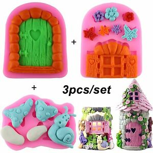 Mujiang Enchanted Vintage Fairy Garden Fairy Gnome Home Door Snail Silicone for