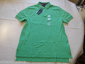 Men's Tommy Hilfiger Polo shirt solid logo L large 7854827 Brando Green 329 NEW