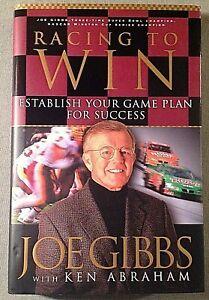 Racing-to-Win-Signed-by-Joe-Gibbs-Autographed-Hardback-HOF-Redskins-Coach-Auto