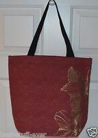 Bath & Body Works Gold Flowers Tote Canvas Bag Purse Shopping Handbag Cute