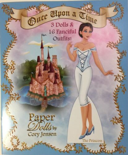 ONCE UPON A TIME Paper Doll Book-Fanciful Outfits for Princess/Prince/Evil Queen
