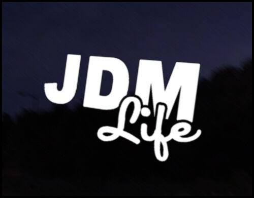 JDM Life JDM Funny Car Decal Drift Race Vinyl Sticker Japan Mitsubishi Nissan