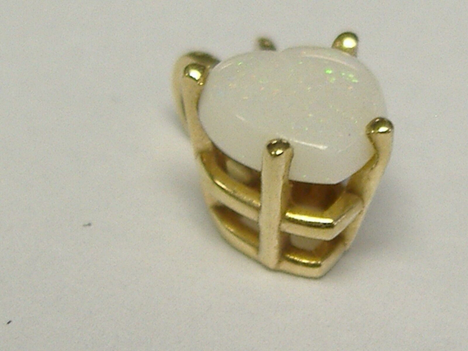 VINTAGE  14 K  gold NATURAL OPALS HEART  PENDANT