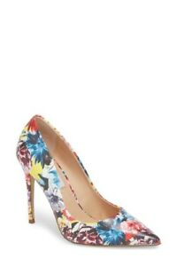 77189349ebe6 STEVE MADDEN Daisie Floral Multi Color Pointed Toe Stiletto Pumps ...