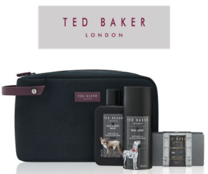 7bd0132cd554 Details about TED BAKER Mens Refined & Invigorating Bath & Body Gift Set  travel toiletry bag