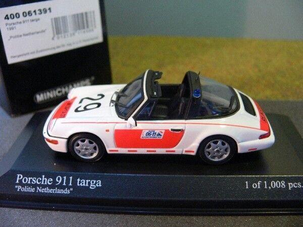 1 43 MINICHAMPS PORSCHE 911 Targa Targa Targa 1991 Politie Netherlands Pays-Bas NL 400... 435d02