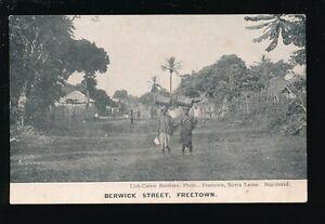 West Africa Sierra Leone FREETOWN Berwick St pre1919 PPC pub Lisk-Carew Bros