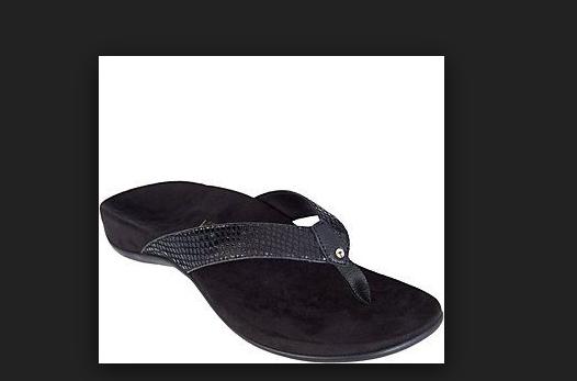 Vionic Orthotic Black Snake Print Thong Sandal Rest Peri Women's Size 9 New