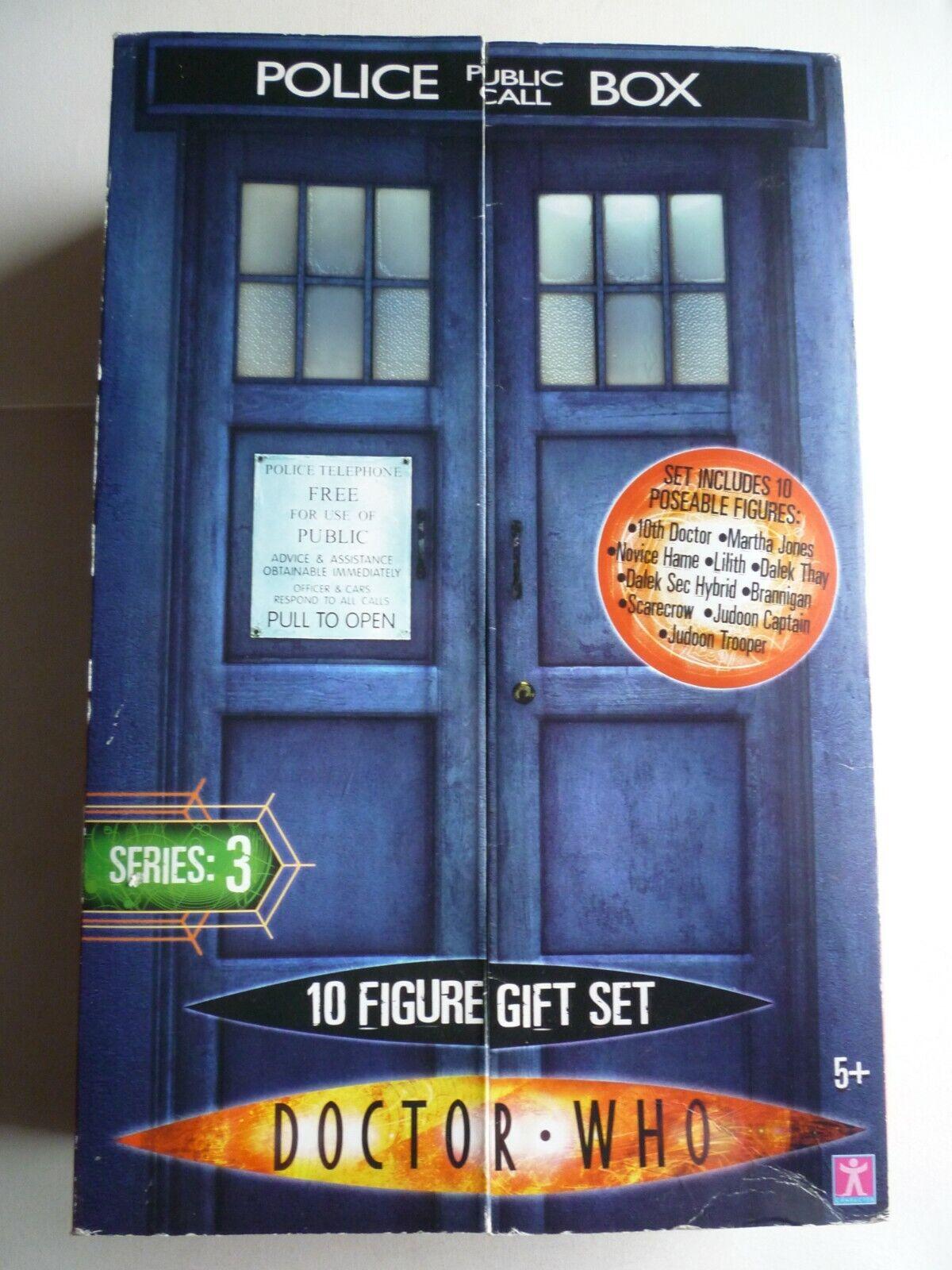 Doctor Who Series 3 10 Figure Set Rare BNIB Tenth Doctor Dalek Thay BNIB