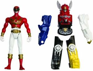Power-Rangers-Megaforce-Zord-Armour-Red-Ranger-Figure-set-No-Retail-Packaging