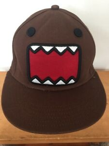 9bffa2401f383 Details about 2012 Domo Open Mouth Felt Face Brown Cotton Adjustable Snap  Back Baseball Hat