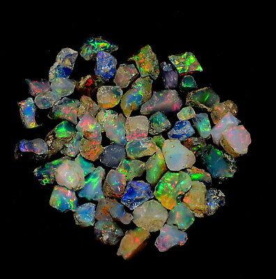 polished opal chips polished opal slice 100 CRT Top high quality white opal based Natural Welo fire Ethiopian Opal Polish Rough stones