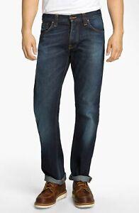 Nudie-Herren-Regular-Straight-Fit-Jeans-Hose-Average-Joe-Contrast-Indigo