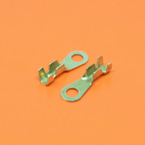 High Quality M4 4.3mm Uninsulated Brass Crimp Ring Terminal 0.50mm-1.50mm²