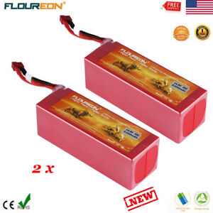 2x-4S-14-8V-35C-5200mAh-Lipo-Battery-Deans-Hard-Case-for-RC-Heli-Airplane-Car-US