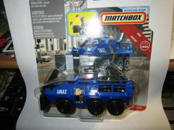 S.W.A.T MOC 2019 Matchbox Working Rigs Tactical Rescue Vehicle BLUE METRO