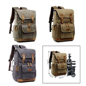 DSLR SLR Camera Backpack Bag Waterproof Vintage Photography Camera Lens Backpack