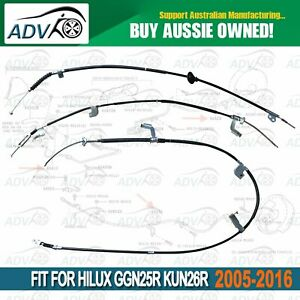 3pce-Front-Rear-LH-RH-Hand-Brake-Cable-Set-Hilux-GGN25R-KUN26R-2005-2016-4X4