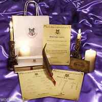 Harry potter / Hogwarts style Magical Quill GIFT SET for writing spells!