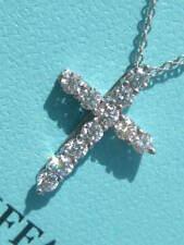 TIFFANY & CO. DIAMOND CROSS NECKLACE PENDANT PLATINUM PT950 $2,900.00