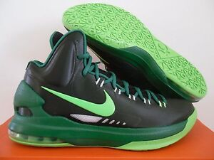 wholesale dealer 08303 af939 Image is loading NIKE-KD-V-5-BLACK-ELECTRIC-GREEN-PINE-