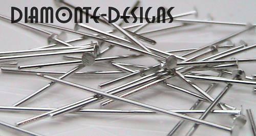 Eyepins 40mm para la fabricación de joyas libre de níquel plata esterlina 925 hágalo usted mismo Craft