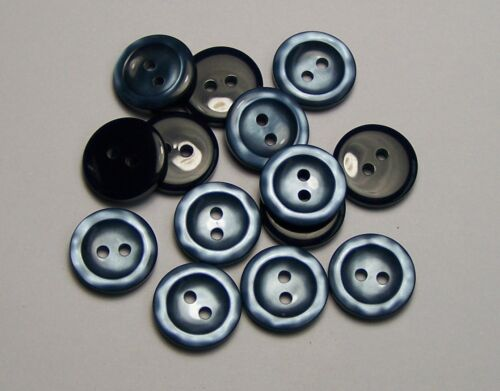 8pc 16 mm STORM Blue Knitwear Cardigan Jupe Pantalon Enfants Robe Bouton 0125
