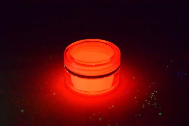 Glow in the dark pigment powder - Red - RARE - GRATIS Nail Art Decorations