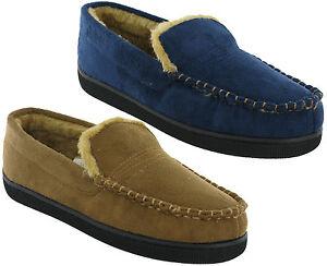 Dr-keller-Pantofole-Mocassino-Leggero-Caldo-Comodo-Slip-On-Uomo-Simil-Pelo-UK