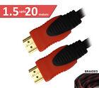 0.5m 1m 1.5m 3m 5m 10m 15m 20m Braided & Non Braided HDMI Cable HD 4K 3D V1.4