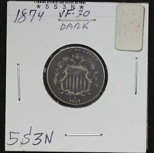 1874-Shield-Nickel-VF-Dark