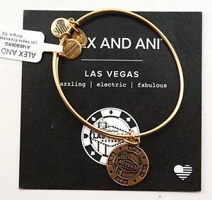 Alex And Ani Las Vegas Poker Chip Exclusive Gold Charm Bracelet