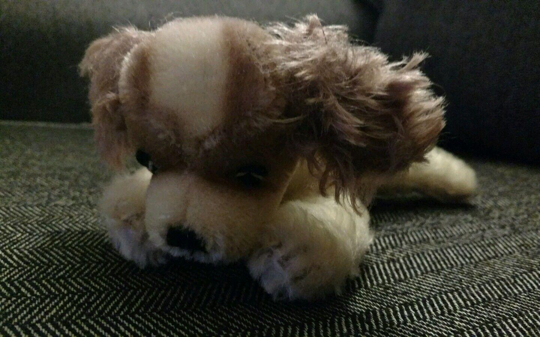 Steiff Dog Mohair Doll Stuffed Animal plush Vintage old cockerspainiel Puppy Pup