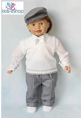 Baby Ragazzi Bianco E Grigio Smart Vestito Canotta Fiocco Cappello Battesimo Partito Formale-mostra Il Titolo Originale